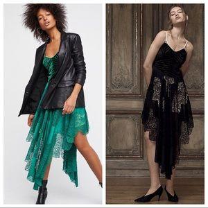 •Free People• Dark Fairy Lace Dress